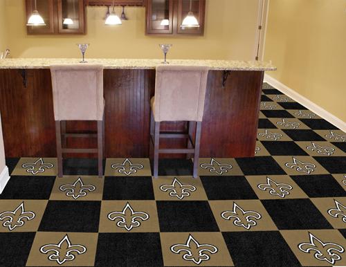 New Orleans Saints Nfl 18 X Carpet Tiles