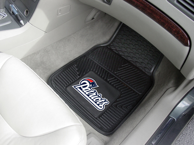 New England Patriots Premium All Weather 2pc Rubber Car Floor Mats