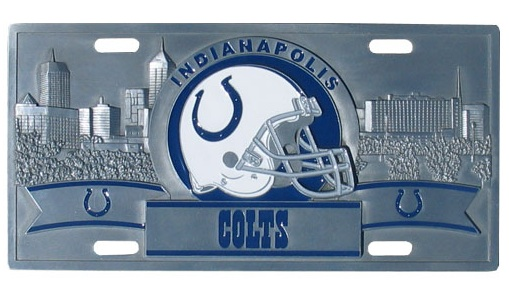 Indianapolis Colts Logo License Plate Auto Tag Metal Sign NFL Football Sports