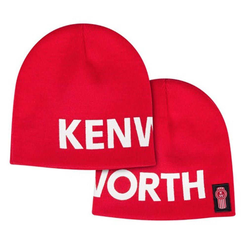 bae43ee27 Kenworth Oversized Letterblock Red Winter Beanie Cap