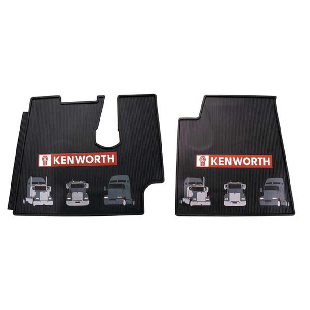 Kenworth 2005 Amp Newer Heavy Duty Black Rubber Floor Mats