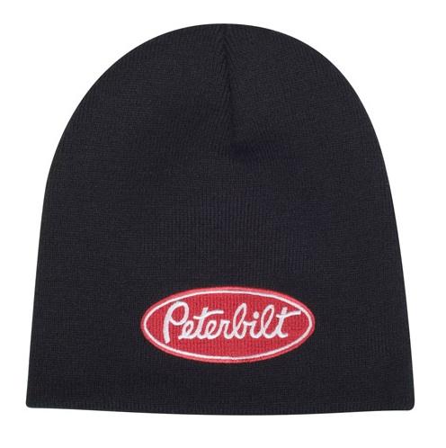 Peterbilt Hats - Peterbilt Caps - Peterbilt Motors Black Knit Winter Beanie 5ce28497f92