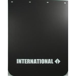 Semi Mud Flaps >> International Semi Truck Logo 24 X 30 Black Polyurethane Mud Flaps Pair