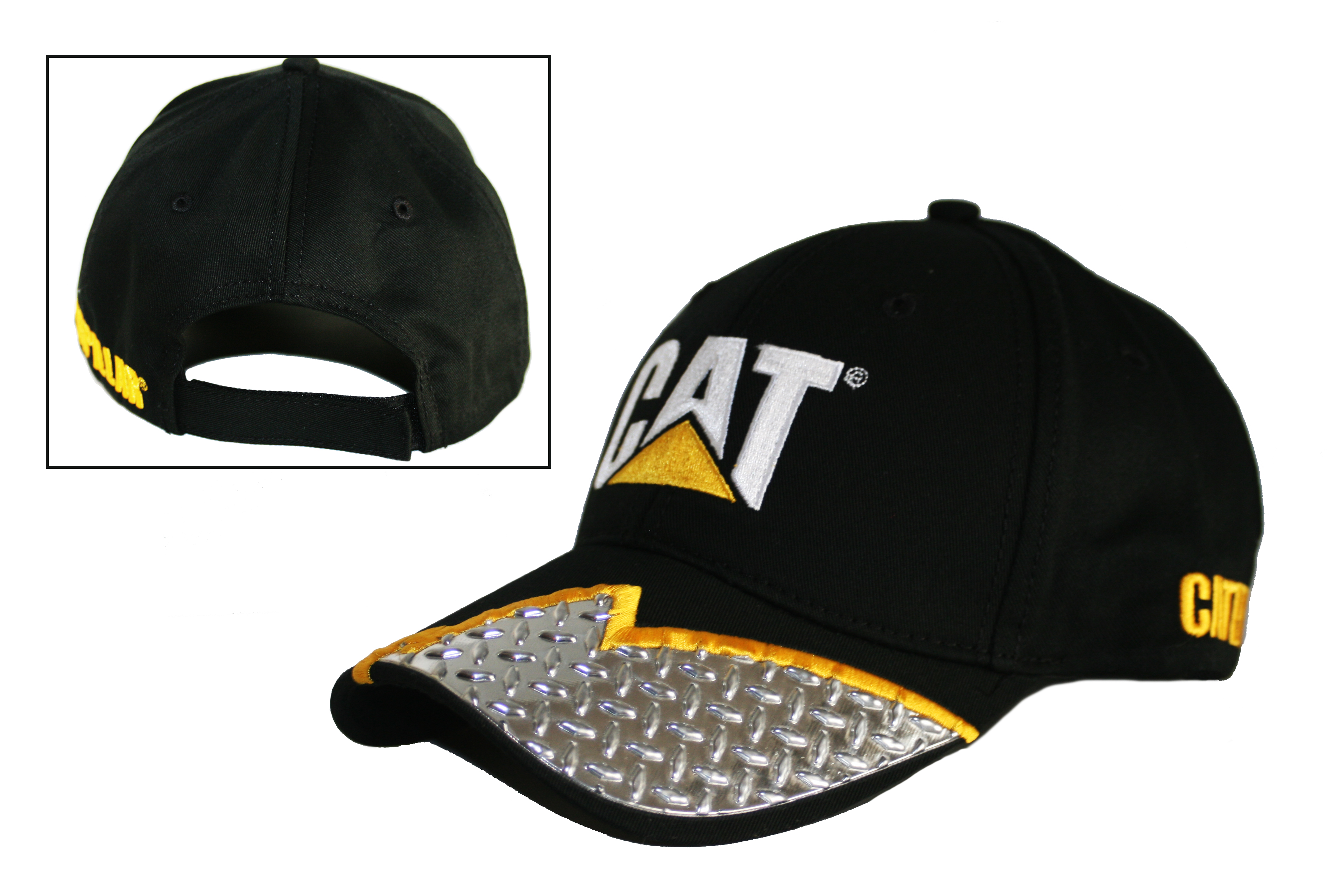 Cat Hats Cat Caps Caterpillar Cat Diamond Plate Visor