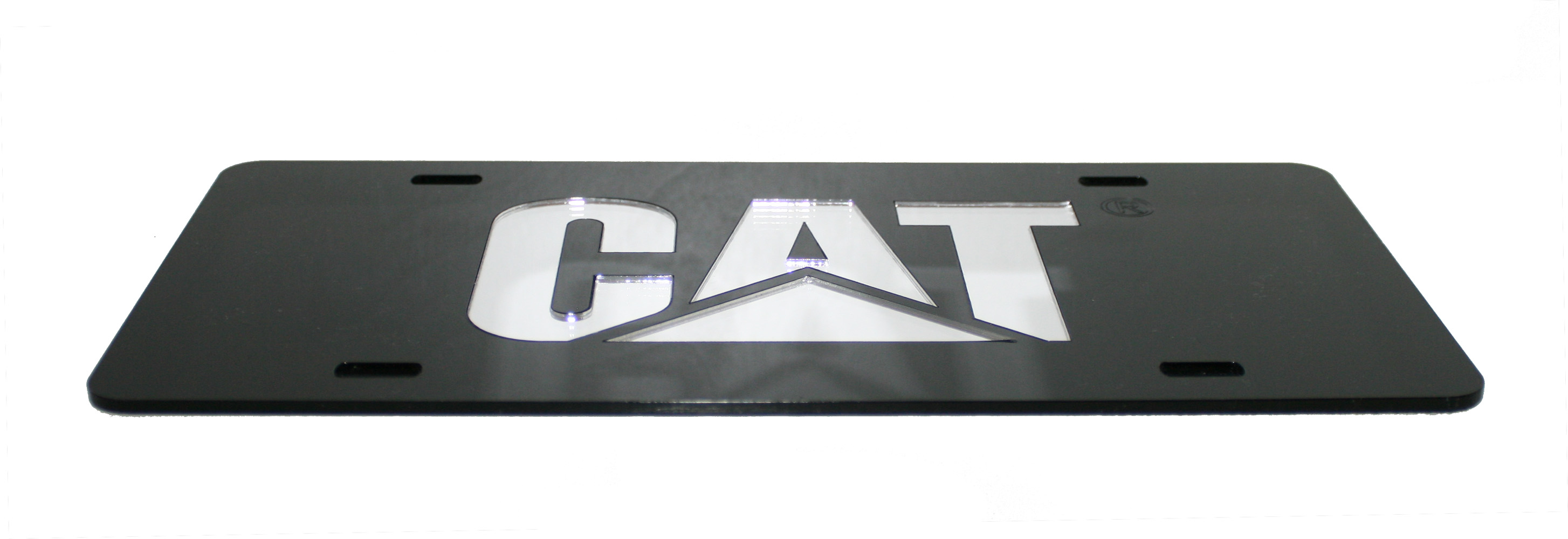 Caterpillar License Plates - Caterpillar CAT Black Acrylic Laser Cut ...