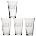 Caterpillar CAT 16oz Beer Drinking Glasses Set of 4