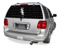 "Chicago White Sox MLB Logo """"Rearz"""" Back Windshield Covering by Glass Tatz"