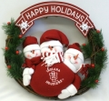 "Indiana Hoosiers 20"" Three Snowmen Football Family Wreath"