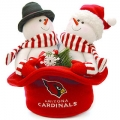 Arizona Cardinals Christmas Snowmen Couple Top Hat
