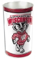 "Wisconsin Badgers NCAA 15"" Tapered Wastebasket"