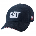 Caterpillar CAT Dark Denim USA Flag Cap