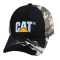 Caterpillar CAT Black Camo Flames Cap