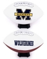 Michigan Wolverines Embroidered Signature Series Football