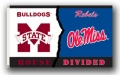 Mississippi State Bulldogs / Ole Miss Rebels Rivalry 3 x 5 Flag