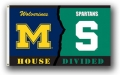 Michigan Wolverines / Michigan State Spartans Rivalry 3 x 5 Flag