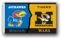 Kansas Jayhawks / Missouri Tigers Rivalry 3 x 5 Flag