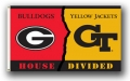 Georgia Tech / Georgia Bulldogs Rivalry 3 x 5 Flag