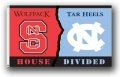 NC State Wolfpack / North Carolina Tar Heels Rivalry 3 x 5 Flag