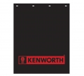 "Kenworth 24"" x 30"" Black & Red Poly Semi Truck Mud Flaps-Pair"