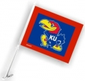 Kansas Jayhawks NCAA Car Flag