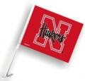 Nebraska Cornhuskers NCAA Car Flag