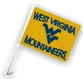 West Virginia Mountaineers NCAA Car Flag