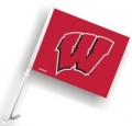 Wisconsin Badgers NCAA Car Flag