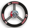 Kansas City Chiefs Leather Steering Wheel Cover