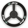 New York Jets Leather Steering Wheel Cover