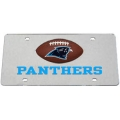 Carolina Panthers Football Laser Cut Silver License Plate