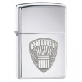 Zippo Police Logo Design High Polish Chrome Finish Lighter