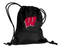 Wisconsin Badgers NCAA Black School String Pack Backpack