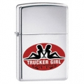 Zippo Mud Flap Girl Design Lighter in High Polish Chrome Finish