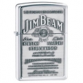 Zippo Jim Beam Pewter Emblem High Polish Chrome Finish Lighter - Indulgence Series