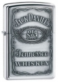 Zippo Jack Daniel's Pewter Label High Polish Chrome Finish Lighter - Indulgence Series