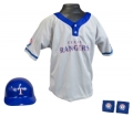 Texas Rangers MLB Youth Helmet and Jersey Set