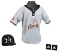 Houston Astros MLB Youth Helmet and Jersey Set