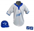 Los Angeles Dodgers MLB Youth Helmet and Jersey Set