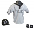 Colorado Rockies MLB Youth Helmet and Jersey Set