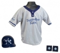 Tampa Bay Rays MLB Youth Helmet and Jersey Set