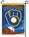 "Milwaukee Brewers 11"" x 15"" MLB Garden Flag"