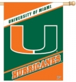"Miami Hurricanes 27"" x 37"" Vertical Outdoor Flag"