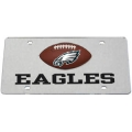 Philadelphia Eagles Football Silver Laser Cut License Plate