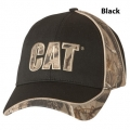 Caterpillar CAT Black Camo Panel Cap