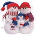 New York Giants NFL Table Top Snowman Family