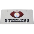 Pittsburgh Steelers Football Silver Laser Cut License Plate