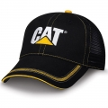 Caterpillar CAT Black Twill Mesh Snapback Cap