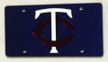 Minnesota Twins Laser Cut Blue License Plate