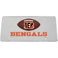 Cincinnati Bengals Football Silver Laser Cut License Plate
