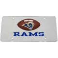 St. Louis Rams Laser Cut/Mirrored License Plate